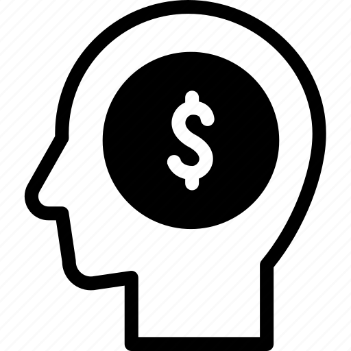 head, human, idea, mind, money, think icon