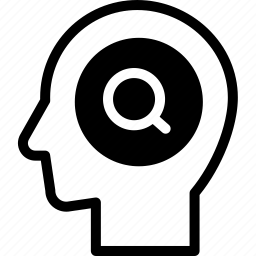 head, human, idea, mind, search, think icon