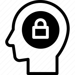 head, human, idea, locked, mind, think icon