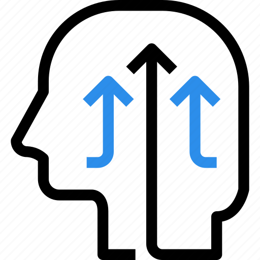 brain, growth, head, innovation, investment, mind, up icon