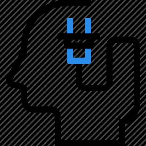 brain, energy, head, idea, mind, plugin, power icon