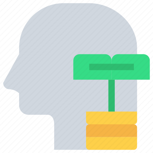 banking, finance, head, investment, mind icon