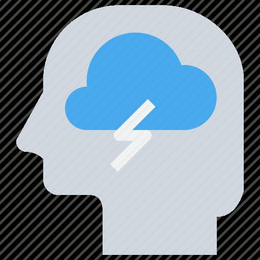 cloud, head, mind, thinking icon