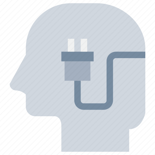 head, mind, plugin, power icon