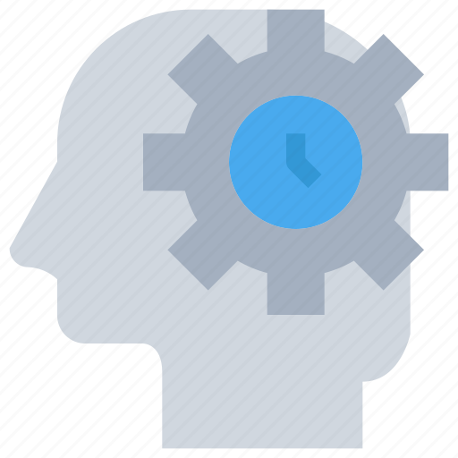 head, management, mind, time icon