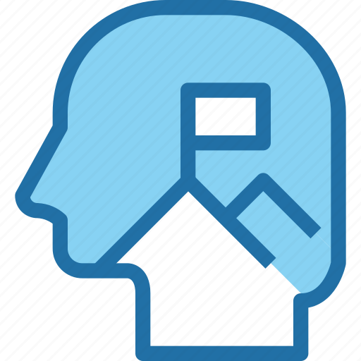 business, head, human, mind, mission, plan, strategy icon