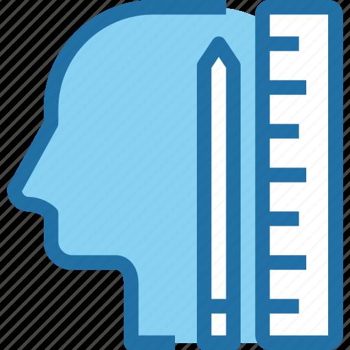 education, head, human, learn, learning, mind, school icon
