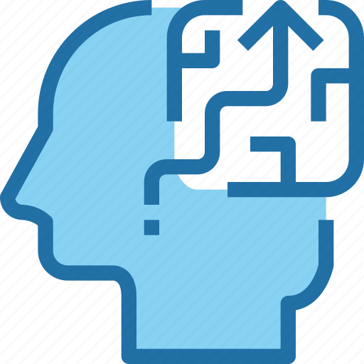 business, head, human, mind, process, solution, strategy icon