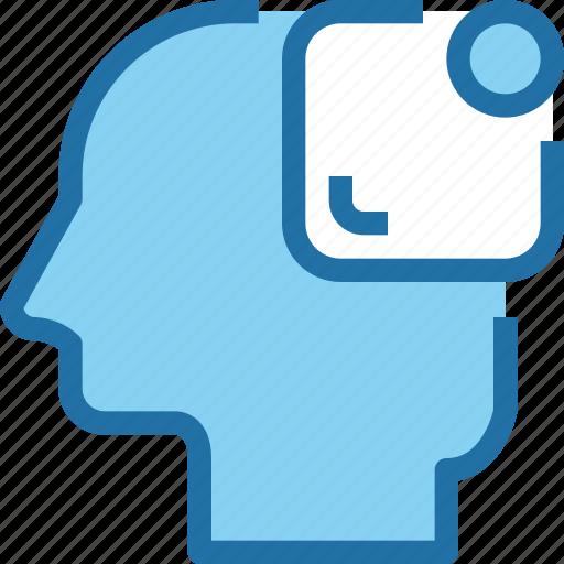 head, human, interface, mind, notice, process, ui icon