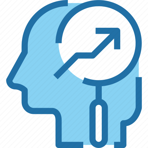 growth, head, human, mind, search, up icon