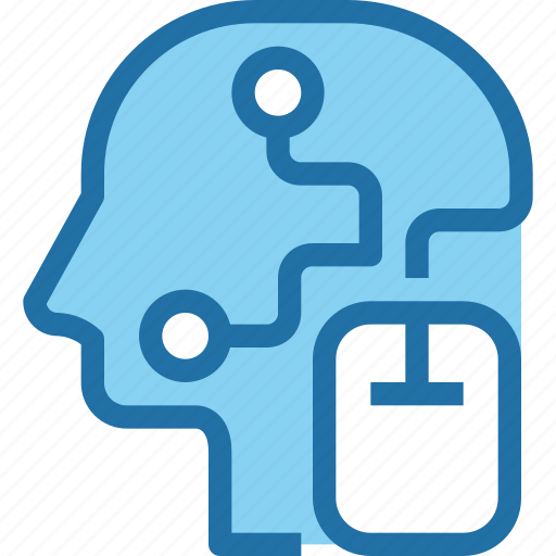 connect, head, human, mind, mouse, solution icon