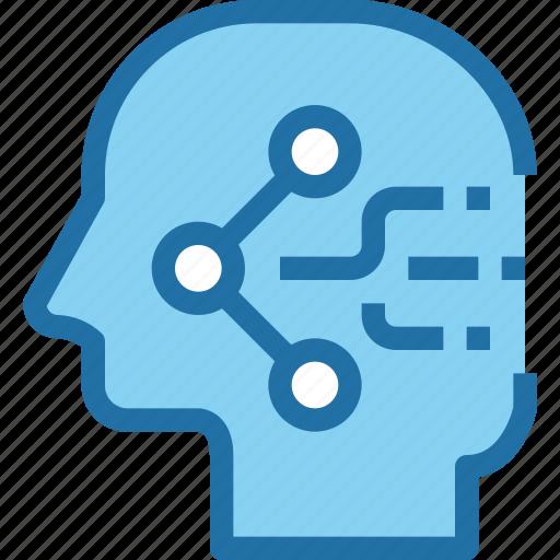 head, human, media, mind, share, sharing, social icon