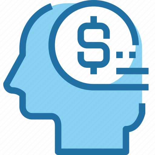 bank, banking, business, head, human, mind, money icon