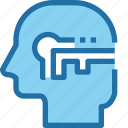 head, human, key, mind, process, security, success icon