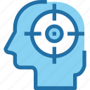 business, focus, head, human, mind, target icon