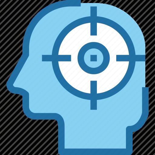 business, focus, head, human, mind, target icon