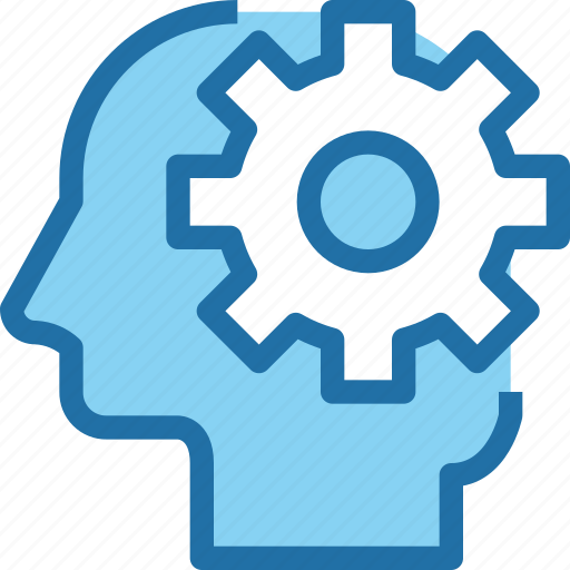 business, gear, head, human, management, mind, process icon