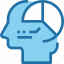 analysis, business, data, graph, head, human, mind icon