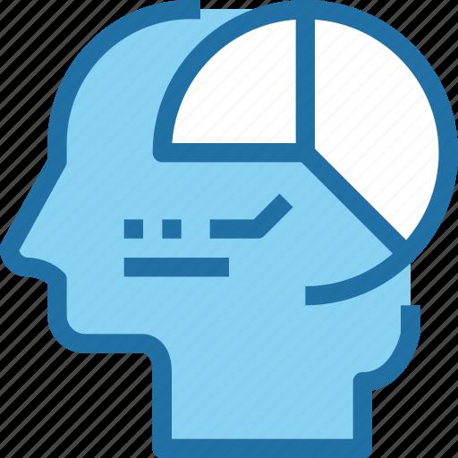 analysis, business, data, graph, head, human, mind icon