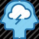 brainstorming, creative, head, human, mind, process, team icon