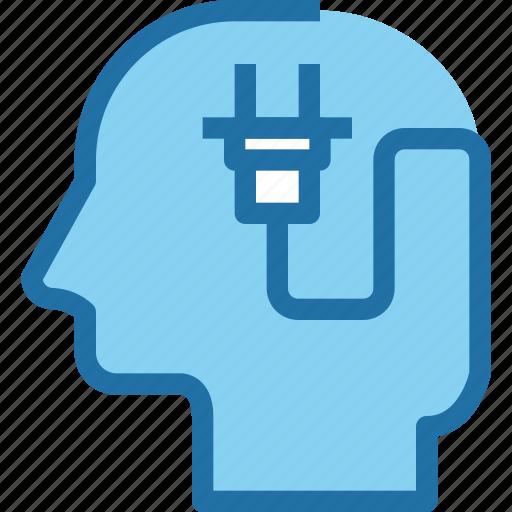 head, human, idea, mind, plugin, power, process icon