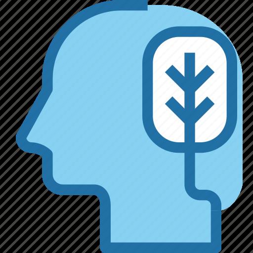 head, human, logical, mind, thinking icon
