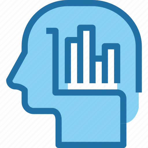 business, data, graph, head, human, mind, report icon