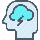 cloud, head, human, mind, thinking icon