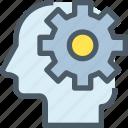 development, gear, head, human, mind, process, thinking