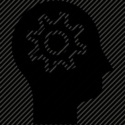 cog, human, human mind, teamwork, thinking icon