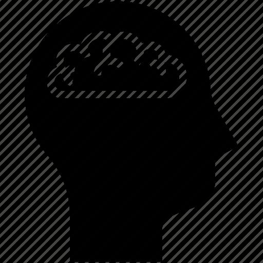 brain, brain storm, human mind, thinking icon