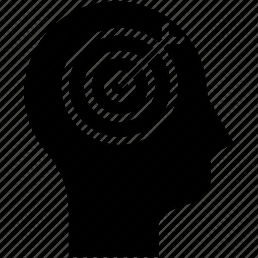 aspirations, human mind, strategy, target icon
