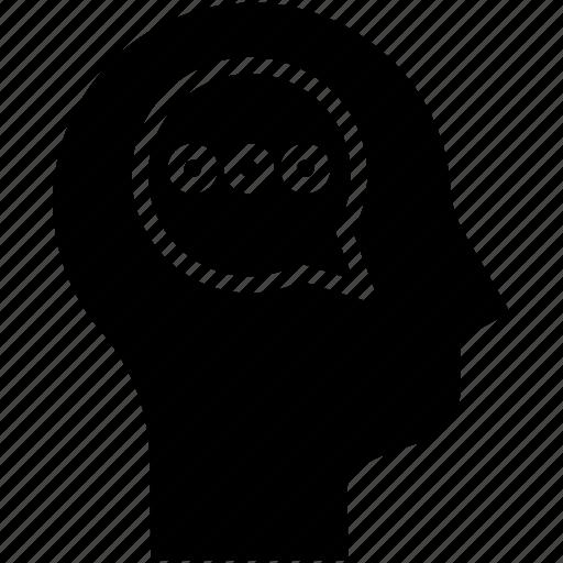 communication, human mind, speak, thinking icon