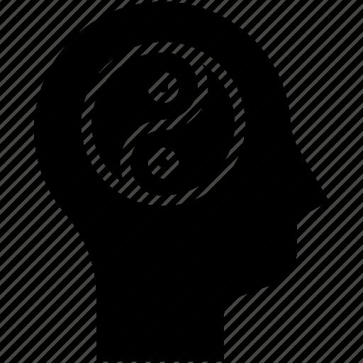 balance, human mind, thinking, yin yang icon