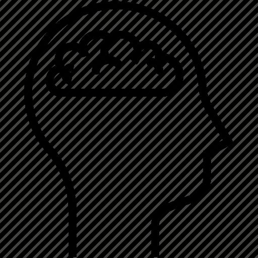 brain, human mind, thinking icon