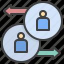 synchronize, swap, change, account, human, resource, trade
