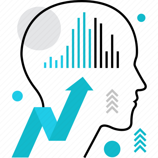 business, chart, growth, hacking, human, potential icon
