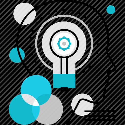 eureka, human, idea, intellect, intelligence, invention, smart, solution icon