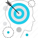 aim, ambition, goals, human, mission, objectives, personal, targets icon