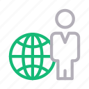 man, user, global, avatar, world icon