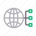 connection, global, network, web, world icon