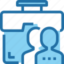 bag, business, case, human, management, people, resources icon