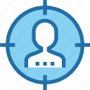 business, human, people, resources, seo, target icon