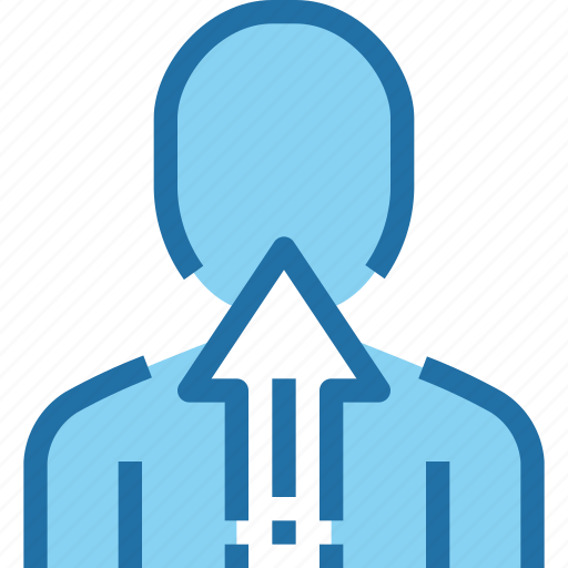 arrow, business, growth, human, people, resources icon