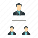 business, hierarchy, leadership, organization, structure, team, teamwork icon
