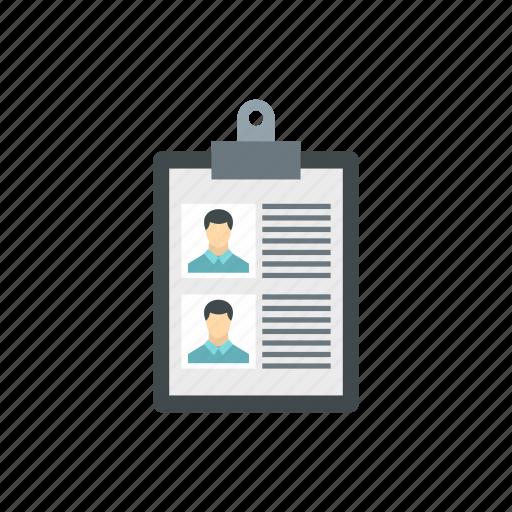 business, cv, employment, hiring, job, layout, resume icon