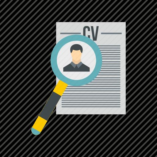 business, job, profile, recruitment, resume, search, work icon