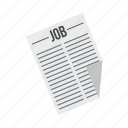 employment, job, newspaper, paper, search, vacancy, work icon
