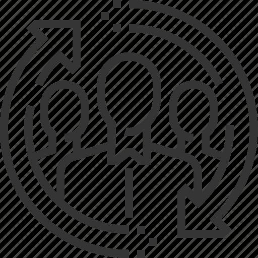 business, company, employee, exchange, work icon