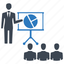 analysis, business meeting, chart, presentation, team, training icon